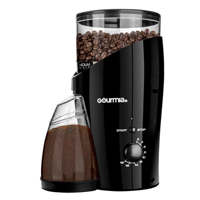 Gourmia-GCG185-Electric-Burr-Coffee-Grinder,-Heavy-Duty-Steel-Grinding-Disc-20-Coarse--Fine-Settings,-2-18-Cups