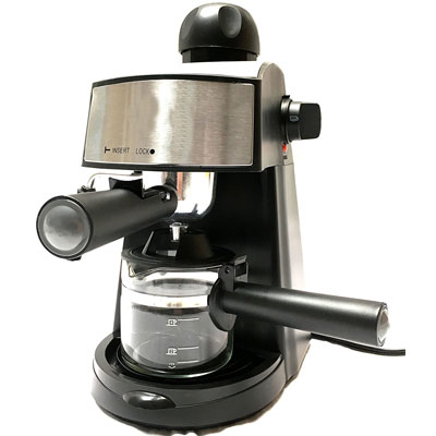 Unique-Imports-Powerful-steam-Espresso-and-Cappuccino-Maker-Barista-Express-Machine-Black---Make-European-Espresso