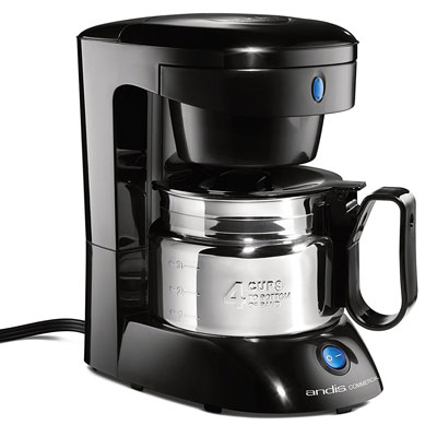 Andis-4-Cup-Coffeemaker-with-Auto-Shut-Off,-Black