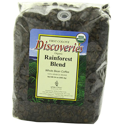 First-Colony-Organic-Fair-Trade-Whole-Bean-Coffee,-Rainforest