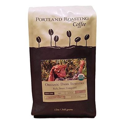 Organic-Coffee-Beans-by-Portland-Roasting-Company,-Dark-Sumatra-Blend