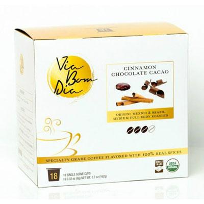 Via-Bom-Dia-100%-Naturally-Flavored-Certified-Organic-Coffee,-Cinnamon-Chocolate
