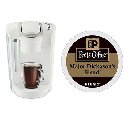 4-Keurig-K-Select-Coffee-Machine-and-32ct-Peets-Coffee-Major-Dickasons-Blend-K-Cups