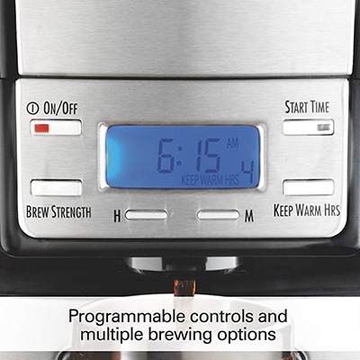 Hamilton-Beach-48465-Coffee-Maker-controls
