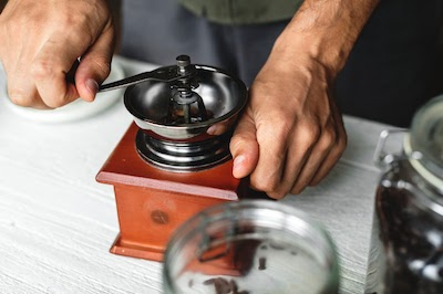 manual and electric Turkish coffee grinders
